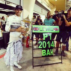 Race Winner Lewis Hamilton @ #BahrainGP 2014 Formula One Gulf Air Grand Prix #TeamLH