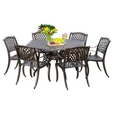 Found+it+at+Wayfair+-+Woodford+7+Piece+Cast+Aluminum+Dining+Set+in+Bronze