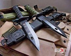 M9 (M9 Bayonet) - армейский штык - нож.. Клинок штыка M9 однолезвийный, с пилой на обухе. Ножны пластмассовые, на конце ножен стальная накладка с вырезом и овальным штифтом. При накладывании клинка овальным отверстием на штифт штык M9 превращается в ножницы.