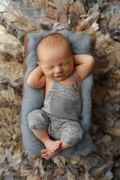 Newborn Photography Prop-Newborn Light Gray Overalls-Baby Boy