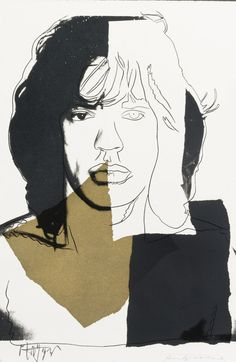 Andy Warhol Mick Jagger - need to find a framed print!!