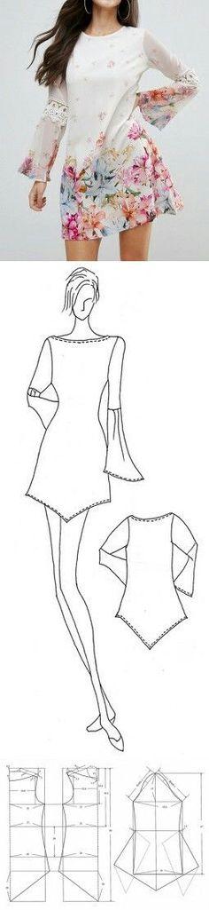 "Sleeved dress""tunic""..."