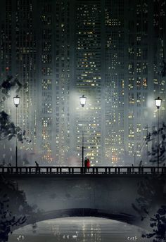 San-Francisco-based illustrator Pascal Campion captures the magic in everyday moments. Each colorful digital illustration is like a snapshot of a precious memory with loved ones, pets, or simply a tranquil moment of solitude. Art And Illustration, Illustrations, Pascal Campion, City Art, Buch Design, Aesthetic Art, Oeuvre D'art, Pixel Art, Art Inspo