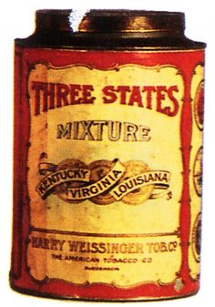 Three States Tobacco Tin