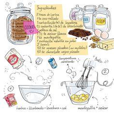 Por medio de la ilustración podemos captar claramente el paso a paso de receta de cocina de manera clara y sencilla. Esto genera interés por parte del usuario ya que le hace más atractiva.