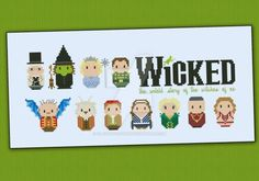 Mini People - Wicked cross stitch pattern by cloudsfactory