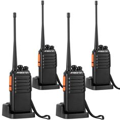 ANSIOVON A-007 Rechargeable Long Range Two Way Radio-16 Channels-UHF 400-470Mhz-Include 2800 Mah Li-ion Battery-Professional Walkie Talkie-6W-Up to 15 Miles Long Range (4 Pack) *** Learn more by visiting the image link. (This is an affiliate link)
