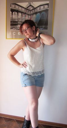 New outfit post: School's out :) http://creati-vale.com #pimkie #oasap #zara #TRF #Regalrose #cami #lace #denim shorts #boots