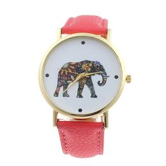 Cheap feminino, Buy Quality feminino relogio Directly from China Suppliers:Creative Watch Women Fashion Women Elephant Pattern Leather Analog Quartz Dial Watch Quartz Watch relogio feminino Elephant Face, Elephant Print, Trendy Watches, Cool Watches, Women's Watches, Wrist Watches, Fashion Watches, Trends 2018, Trendy Jewelry