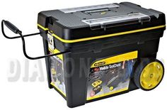 Stanley 192902 Professional Mobile Tool Chest ** More info could be found at the image url. (This is an affiliate link) Tool Storage, Garage Storage, Mobile Tool Box, Rolling Tool Box, Portable Garage, Stanley Tools, Lid Organizer, Garage Tools, Professional Tools