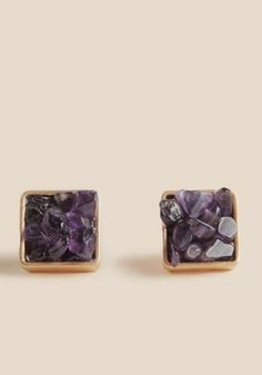 at ruche // purple square earrings