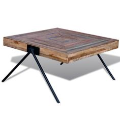 (492.39$)  Buy here - http://aib40.worlditems.win/all/product.php?id=241712UK - Coffee Table with V-shaped Legs Reclaimed Teak
