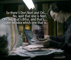 Cumbersmaug studying dwarves.