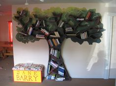 tree of books, this is such a cute idea for a bookshelf in a kids room