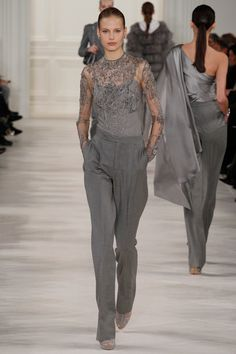 Ralph Lauren | Fall 2014 Ready-to-Wear Collection | Style.com REf old d DKNY pattern with similar neckline from back