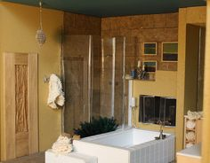 Miniature - Shower, Soaking Tub, Fireplace, Planter | Flickr - Photo Sharing!