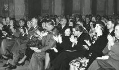 Waldstein Palace in Prague. Concert in honour of composer Bruno Heydrich. 26.05.1942. One of last photos of Reinhard Heydrich. On the left - Mrs. Bertsch and Minister Walter Bertsch. Source: http://www.ceskatelevize.cz/porady/10350893065-heydrich-konecne-reseni