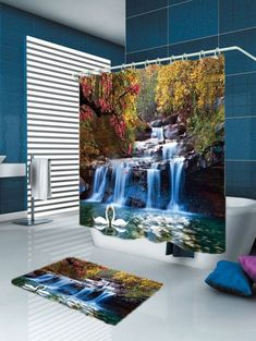 Home & Garden Fashion Style 3d Starfish Corals 7 Shower Curtain Waterproof Fiber Bathroom Windows Toilet To Enjoy High Reputation At Home And Abroad