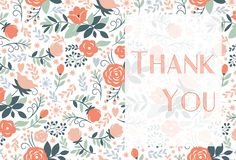 Floral themed thank you card for you to customize! CatPrint Design #560