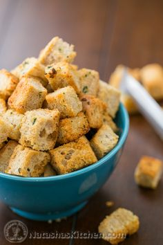 Easy Crunchy Garlic Croutons-2-2