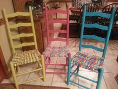How to weave a chair bottom from fabric