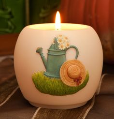Ibis & Orchid Watering Can Votive