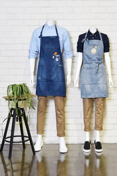 Denim aprons are forever! Frankie & Henry embrace the much loved Boston aprons in this week's curated uniform look.