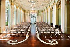Petal Aisle Border....DONE! :  wedding aisle decor black ceremony diy green ivory petal runner Inspiration Petal Border Photo 17a9733638