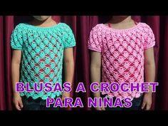 Blusa Tejida a crochet para Niñas en punto Arañitas o Piñitas paso a paso - MILAGROS ENA - YouTube