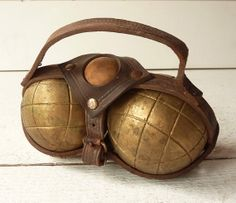 Vintage Pair of French Bronze BOULES de PETANQUE by LaLoupiote