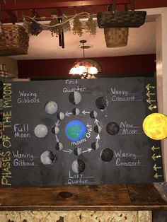Moon phases science project