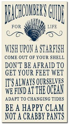 This fun Ocean Beach Sign is for those who take their advice from the sea. It's one of several ocean beach advice signs from Bed Bath & Be. Ocean Quotes, Beach Quotes, Seashore Quotes, Beach Cottage Style, Beach House Decor, Seaside Style, Beach Humor, Funny Beach, Fishing Shack