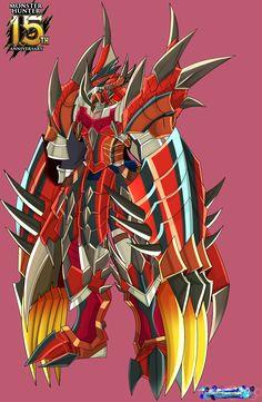 Wargreymon Rathalos ver by on DeviantArt Pokemon Oc, Pokemon People, Pokemon Fusion, Pokemon Cards, Creature Concept Art, Creature Design, The Way Movie, Digimon Wallpaper, Gundam Toys