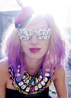 glasses by rene walrus. i totally want these glasses to add to my collection! Steam Punk, Festivals, Grunge, Shady Lady, Kawaii, Cheap Fashion, Fashion Bags, Face Fashion, Lingerie