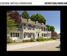 The Amityville Horror House Slideshow. View the slideshow at http://www.historyvshollywood.com/reelfaces/real-amityville-horror-house.php This is the haunted home that inspired The Amityville Horror movies, including the Ryan Reynolds remake.