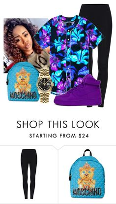 """""""Untitled #421"""" by sammy-pinckney ❤ liked on Polyvore featuring Moschino, NIKE and Rolex"""