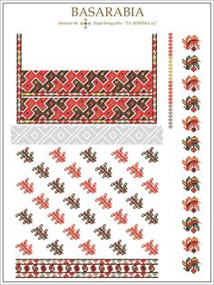 IA AIDOMA 23 - Basarabia, ROMANIA Folk Embroidery, Embroidery Patterns, Cross Stitch Patterns, Hama Beads, Romania, Beading Patterns, Pixel Art, Folk Art, Diy And Crafts