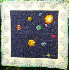 Halina Grzesik - Układ słoneczny - znaczek pocztowy / Solar System - post stamp by Haina Grzesik