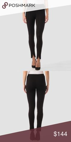 🆕Joseph Ribkoff Pant Style: 163397 Color: Black/Black 66% Viscose Rayon, 29% Nylon, 5% Spandex No zipper Elastic waist Not lined  From Joseph Ribkoff's Fall 2016 collection, this pair of mid-rise skinny leg pants features piping details down the middle of each leg with a tulip hemline at the ankle! joseph Ribkoff Pants Ankle & Cropped