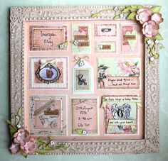 I am back with another baby themed project. There is a bit of a baby boom around here and this time it is my best friend . Shabby Chic Accessories, Pocket Letters, Shadow Box, Baby Boom, Mixed Media, I Am Awesome, Canvas Art, Gallery Wall, Messages