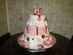 Tea Party baby shower cake!