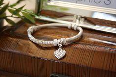 Silver Mesh Charm Bracelet