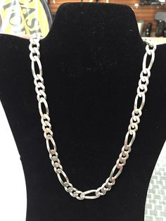 Sterling Silver Rope Chain 8 1//2 Inch Long