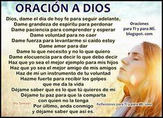 Oraciones para TI y para MÍ: ORACIÓN A DIOS