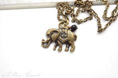 Ketten mittellang - ✼ Indischer Elefant ✼ Kette - ein Designerstück von LiAnn-Versand bei DaWanda