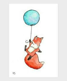 Fox and balloon