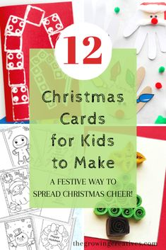 12 Christmas Cards for Kids to Make What could be more special than a homemade card from your little ones? Here are 12 ideas of Christmas cards for kids to make that will be loved by all! Send Christmas Cards, How To Make Christmas Tree, Printable Christmas Cards, All Things Christmas, Christmas Pops, Christmas Ideas, Family Christmas, Christmas Time, Christmas Decor