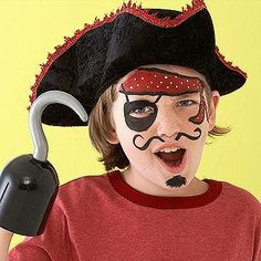 """<p>Ahoy thar, mateys! Sure, your child could wear an eye patch, a bandana, and fake facial hair for <a href=""""http://www.parents.com/holiday/halloween/"""" >Halloween</a> and call himself a pirate, but painted-on accessories are not only less cumbersome to wear, but they also feel pretty realistic. This eye patch is especially great because it surrounds the eye rather than cover it, allowing your child to see normally and without restriction.</p>"""