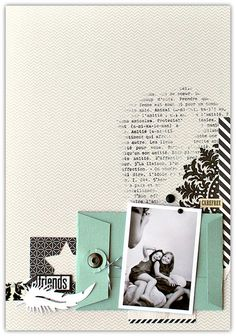#papercraft #scrapbook #layout  Deux pages