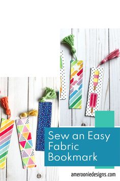 This free tutorial walks you through how to make your own fabric bookmark. Add applique, ribbon, tassels or patchwork your own fabric to make a bookmark you will love to use! Perfect for using up scraps. Make great gifts! sewing tutorial | scrapbuster | diy bookmark Sewing Blogs, Sewing Tutorials, Make Your Own, Make It Yourself, How To Make, Sewing For Kids, Craft Gifts, Walks, Tassels